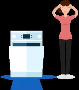 A broken dryer and a women - appliance repair newmarket
