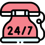 24/7 Emergency Services icon - appliance wizards