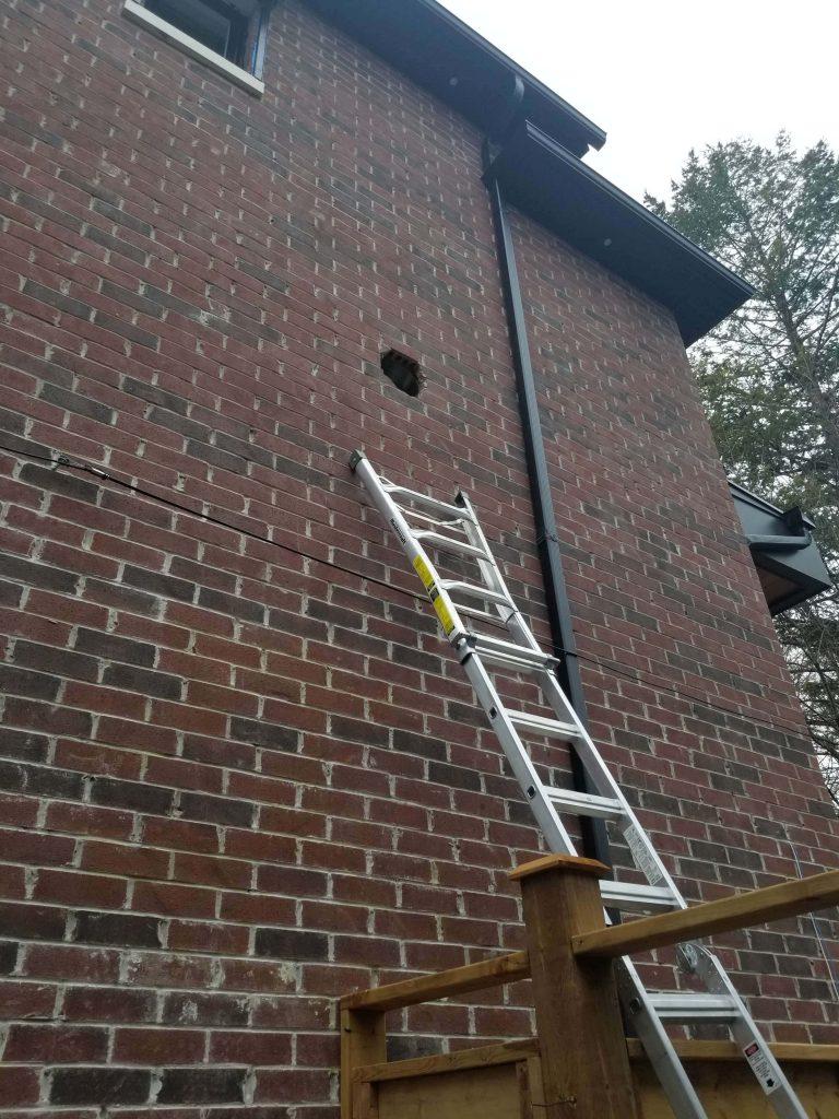 Exterior Blower installation toronto