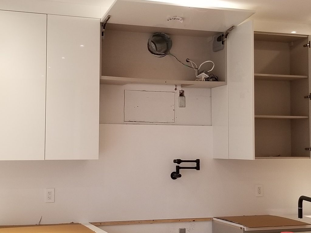 over hood microwave vent installation GTA