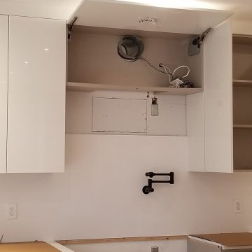 over hood microwave vent installation GTA