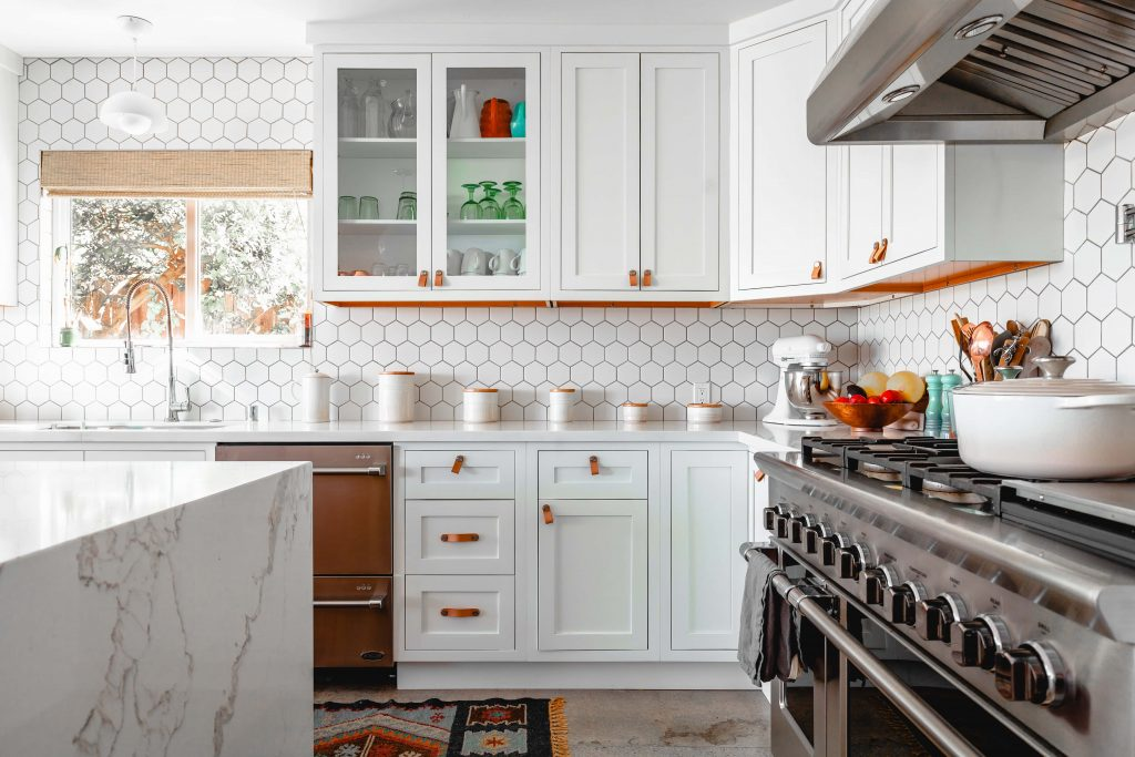 amazing kitchen with huge double gas stove - stove installation service