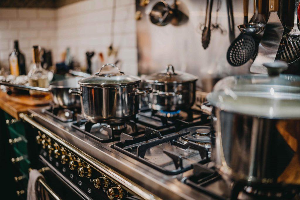 photo of gas stove installation