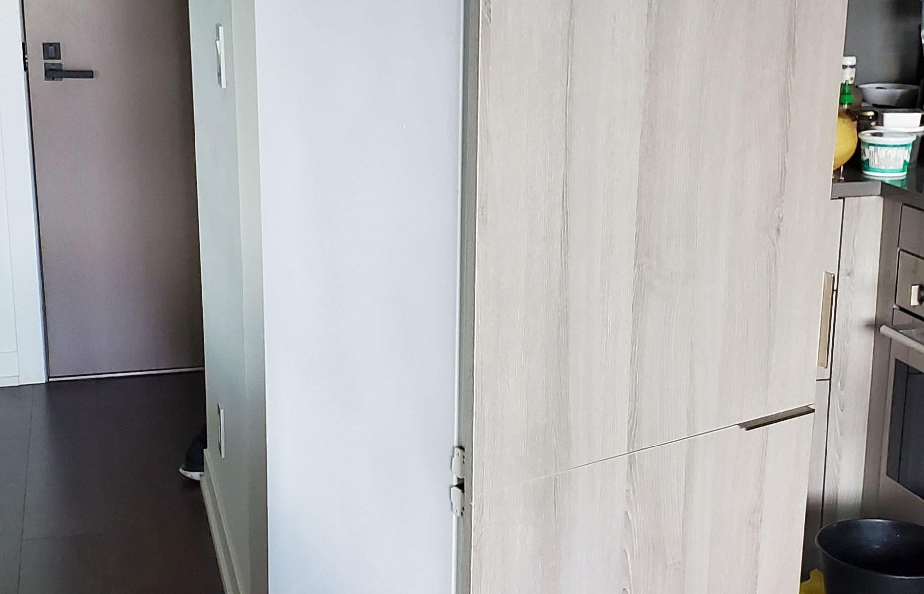 build in fridge with custom door - appliance installation
