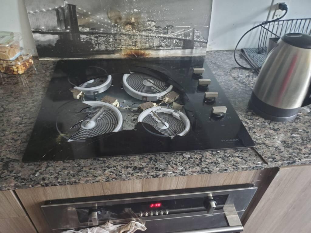 Burned Cooktop Glass Repair - Appliance Repair King City